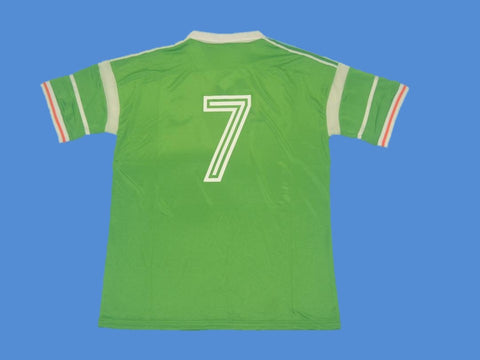 IRELAND 1988 1990 NUMBER 7 HOME JERSEY