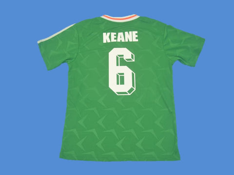 IRELAND 1990 1992 KEANE 6 HOME  JERSEY