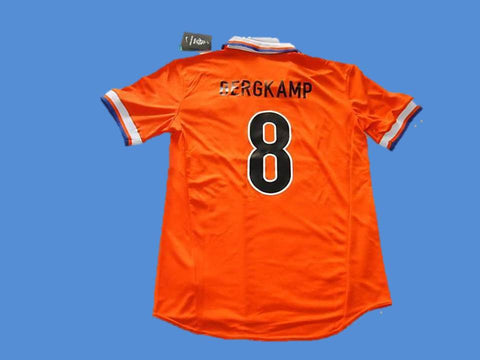 NETHERLANDS HOLLAND 1997 BERGKAMP 8 HOME  JERSEY