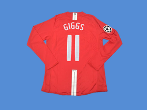 MANCHESTER UNITED 2007 2008 GIGGS 11  UCL FINAL HOME JERSEY