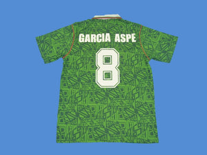 MEXICO 1994 WORLD CUP GARCIA ASPE 8 HOME  JERSEY