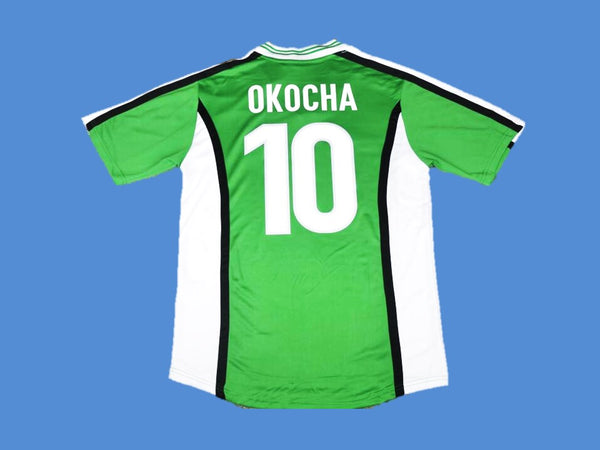 NIGERIA 1998 OKOCHA 10 WORLD CUP HOME  JERSEY