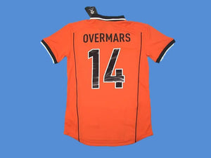 NETHERLANDS HOLLAND 1998 OVERMARS 14 WORLD CUP HOME  JERSEY