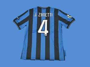 INTER MILAN 2010 ZANETTI 4 UCL FINAL HOME JERSEY