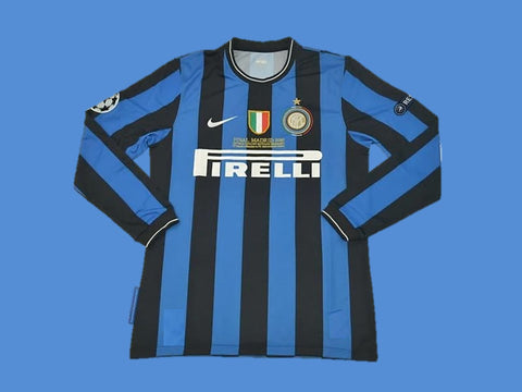 INTER MILAN 2010 UCL FINAL LONG SLEEVE HOME JERSEY