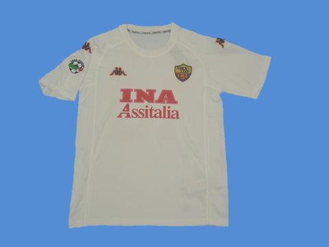 AS ROMA 2000 2001 SERIE A PATCH AWAY JERSEY