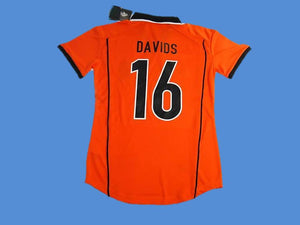 NETHERLANDS HOLLAND 1998 DAVIDS 16 WORLD CUP HOME  JERSEY