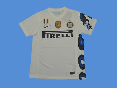 INTER MILAN 2010 WITH BADGES AWAY JERSEY
