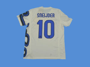 INTER MILAN 2010 SNEIJDER 10 WITH BADGES AWAY JERSEY