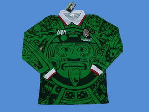 MEXICO 1998 WORLD CUP HOME JERSEY LONG SLEEVE