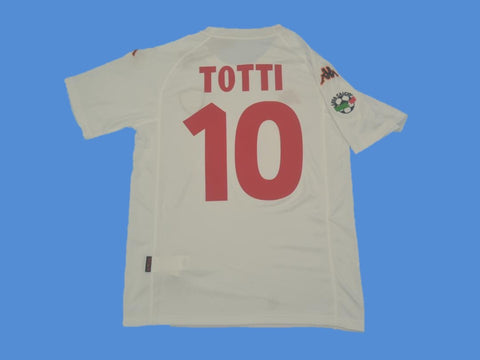 AS ROMA 2000 2001 TOTTI 10 SERIE A PATCH AWAY JERSEY