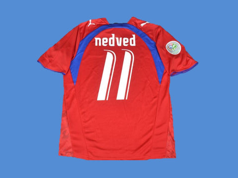 CZECH REPUBLIC WORLD CUP NEDVED 11 HOME  JERSEY