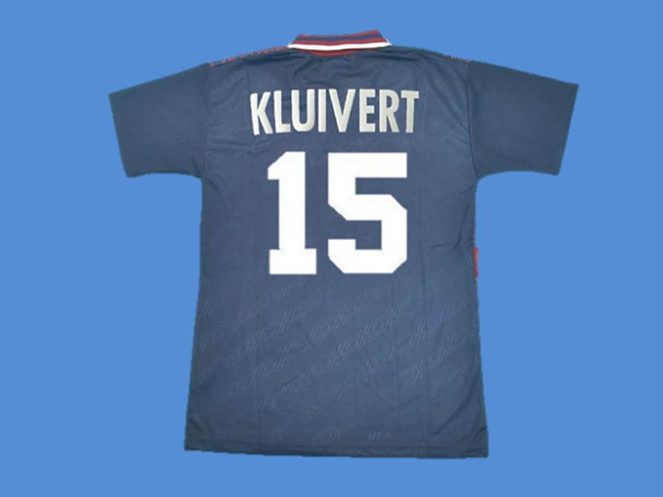 AJAX 1994 1995 KLUIVERT 15 UCL FINAL JERSEY