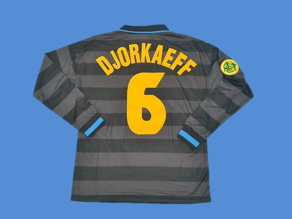 INTER MILAN 1997 1998 DJORKAEFF 6 LONG SLEEVE HOME JERSEY