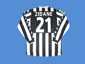 JUVENTUS 1999 2000 ZIDANE 21 LONG SLEEVE HOME JERSEY