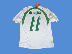 COTE D'IVOIRE WORLD CUP DROGBA 11 AWAY JERSEY