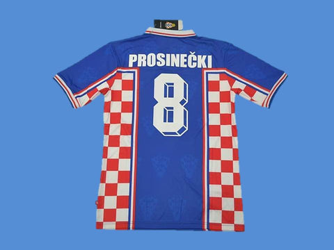 CROATIA 1998 PROSINECKI 8 WORLD CUP HRVATSKA  AWAY JERSEY