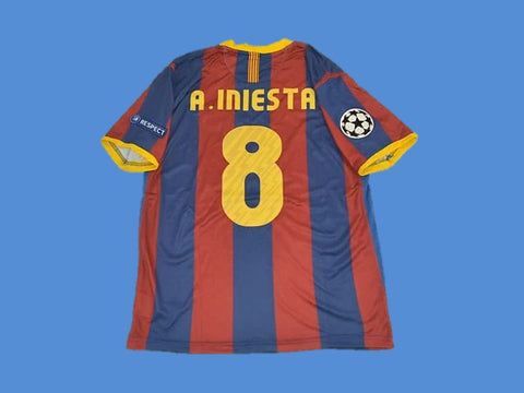 BARCELONA 2010 2011 INIESTA 8 UCL FINAL HOME JERSEY