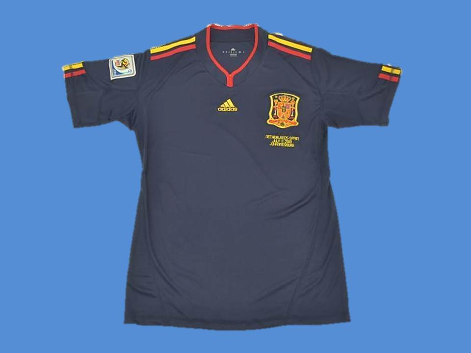 SPAIN 2010 ESPAÑA WORLD CUP FINAL AWAY JERSEY