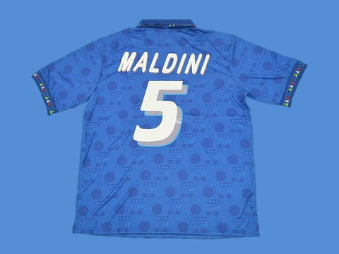 ITALY 1994 MALDINI 5 WORLD CUP HOME JERSEY