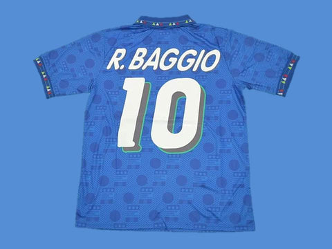 ITALY 1994 BAGGIO 10 WORLD CUP HOME JERSEY