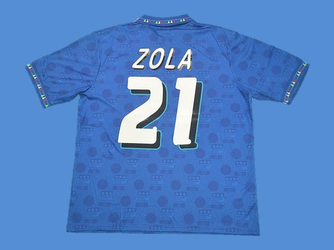 ITALY 1994 ZOLA 21 WORLD CUP HOME JERSEY