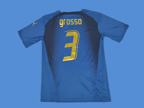 ITALY 2006 GROSSO 3 WORLD CUP HOME  JERSEY
