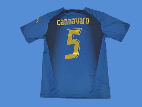 ITALY 2006 CANNAVARO 5 WORLD CUP HOME JERSEY