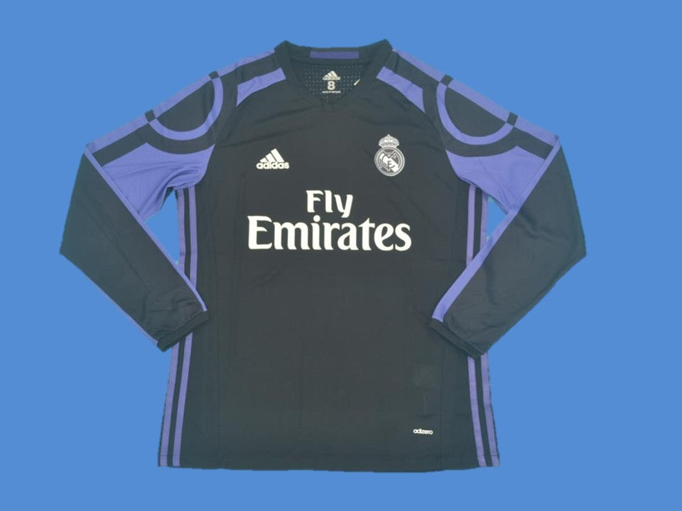 REAL MADRID 2016 2017 LONG SLEEVE AWAY JERSEY