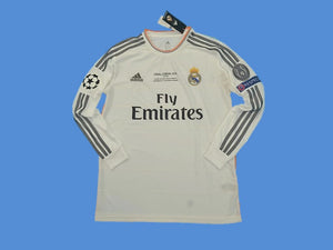 REAL MADRID 2013-2014  UEFA  CHAMPIOS  LEAGUE LONG SLEEVE HOME JERSEY