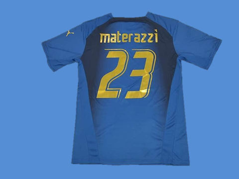ITALY 2006 MATERAZZI 23 WORLD CUP HOME  JERSEY