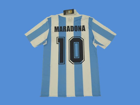ARGENTINA 1986 MARADONA 10 WORLD CUP HOME  JERSEY