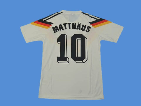 GERMANY 1990 MATTHAUS 10 WORLD CUP HOME  JERSEY