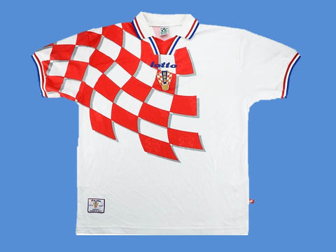 CROATIA 1998 WORLD CUP HRVATSKA  HOME  JERSEY