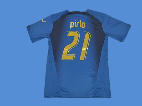 ITALY 2006 PIRLO 21 WORLD CUP HOME  JERSEY