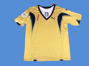 ITALY 2006 BUFFON 1 WORLD CUP HOME  JERSEY