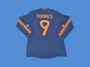 SPAIN 2010 TORRES 9  AWAY LONG SLEEVES  HOME JERSEY