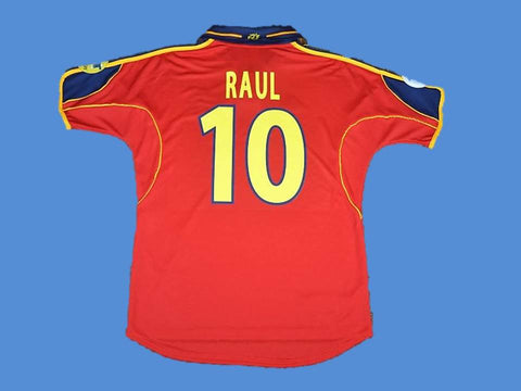 SPAIN 2000 RAUL 10 EURO CUP HOME JERSEY
