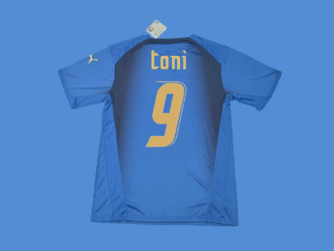 ITALY 2006 TONNI 9 WORLD CUP HOME JERSEY
