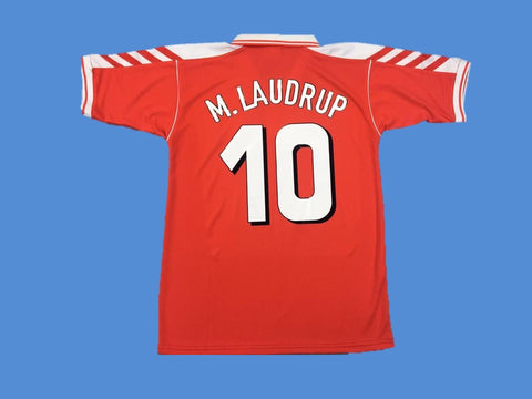 DENMARK 1998 M LAUDRUP 10 HOME JERSEY