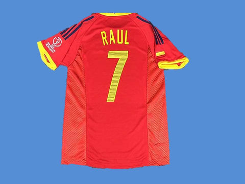 SPAIN 2002 RAUL 7 WORLD CUP HOME  JERSEY
