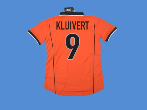NETHERLANDS HOLLAND 1998 KLUIVERT 9 WORLD CUP HOME  JERSEY