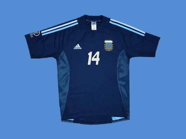 ARGENTINA 2002 SIMEONE 14   WORLD CUP HOME  JERSEY