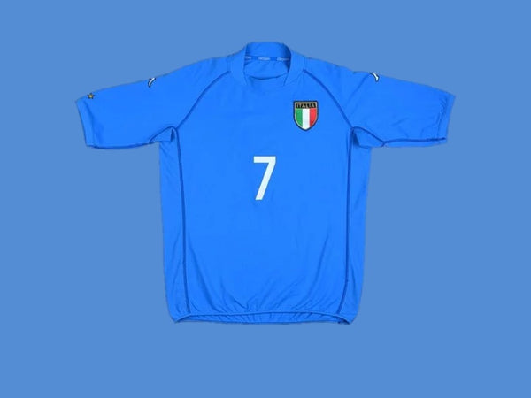 ITALY 2002 DEL PIERO 7 WORLD CUP HOME JERSEY