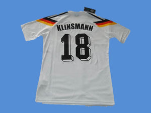 GERMANY 1990 KLINSMANN 18 WORLD CUP HOME JERSEY