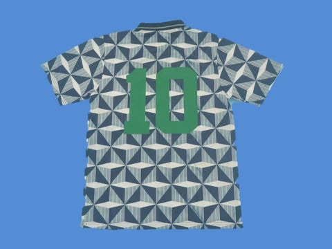 NORTHERN IRELAND 1990 1993 NUMBER 10  AWAY JERSEY