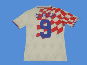 CROATIA 1998 SUKER 9 WORLD CUP HRVATSKA  HOME JERSEY