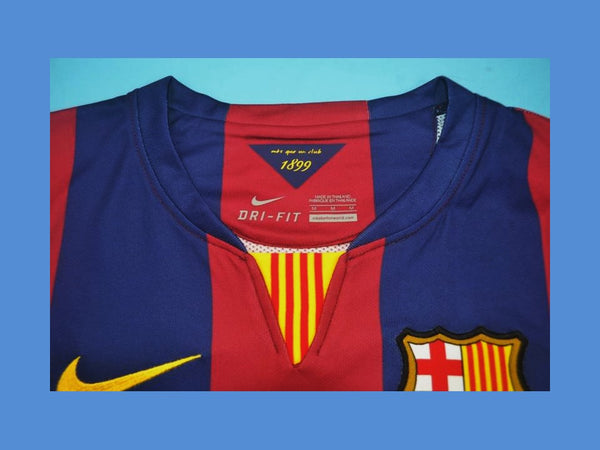 BARCELONA  2014 2015 MESSI 10 HOME JERSEY FINAL  CHAMPIONS LEAGUE BERLIN