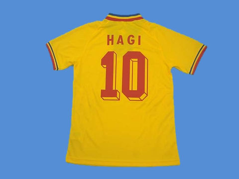 ROMANIA 1994 HAGI 10 WORLD CUP HOME  JERSEY