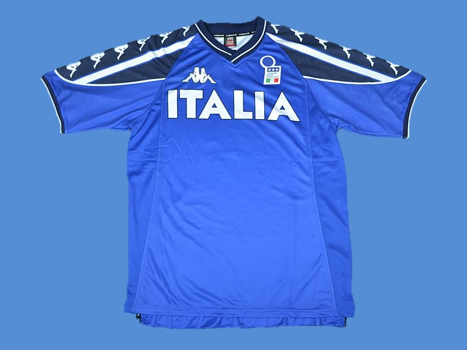 ITALY 2002 TRAINING JERSEY HOME  JERSEY